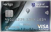 Bank of Melbourne Vertigo Platinum Credit Card